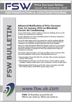 Mitsubishi Price Increase Bulletin | FSW
